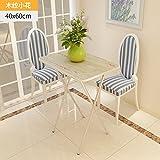 JJTLZY Table PlianteTable Pliante Simple Table à Manger Table de la Maison Simple Table Pliante en Plein air Table Pliante,Beige 75 Haute