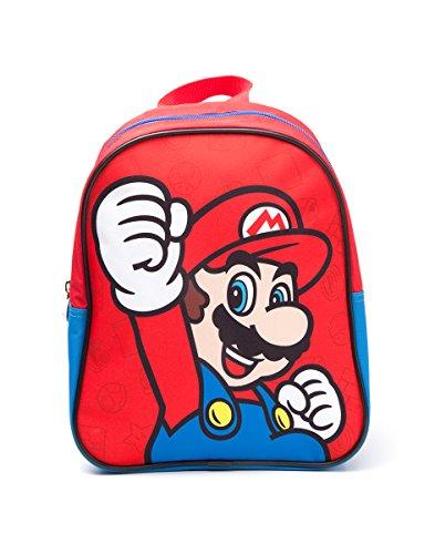 Nintendo - Mochila para niños Super Mario rojo / azul