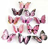 12 Pieces 3D Butterfly Stickrs Fashion Design DIY Wall Decoration House Decoration Babyroom Decoration