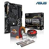 Memory PC Aufrüst-Kit Bundle AMD Ryzen 5 2600X 6X 3.6 GHz, 16 GB DDR4, ASUS TUF X470-Plus Gaming, komplett fertig montiert und getestet