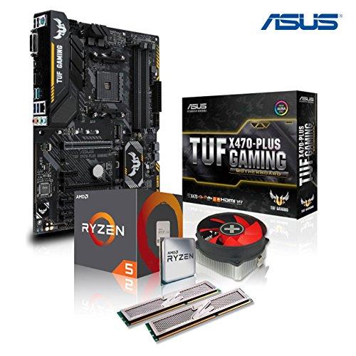 Memory PC Aufrüst-Kit Bundle AMD Ryzen 5 3600 6X 3.6 GHz, 32 GB DDR4, ASUS TUF X470-Plus Gaming, komplett fertig montiert inkl. Bios Update und getestet -