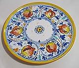 - Orologio in Ceramica SICILIANA - Vari Colori e Misure - Forma Circolare o Quadrata - Prodotti Artigianali in Ceramica Dipinti a Mano