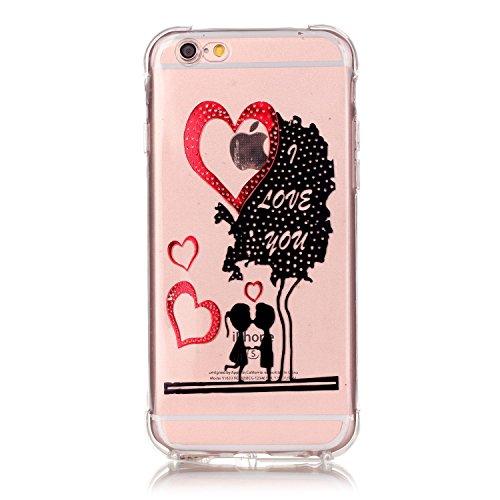 inShang iPhone 6 Coque 6S Housse de Protection Etui 4,7 inch [Transparent Coque d'iPhone] [bronzante technologie 3D image], Ultra mince et léger Case Cover de protection pour iPhone 6 / 6S 4,7 inch