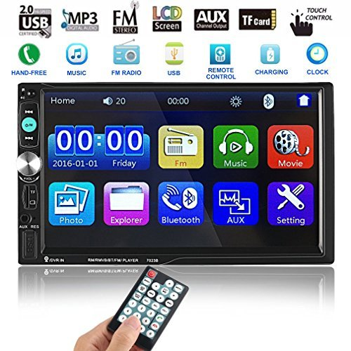 Catuo Bluetooth Car Touch Screen Stereo Audio Video Receiver Player