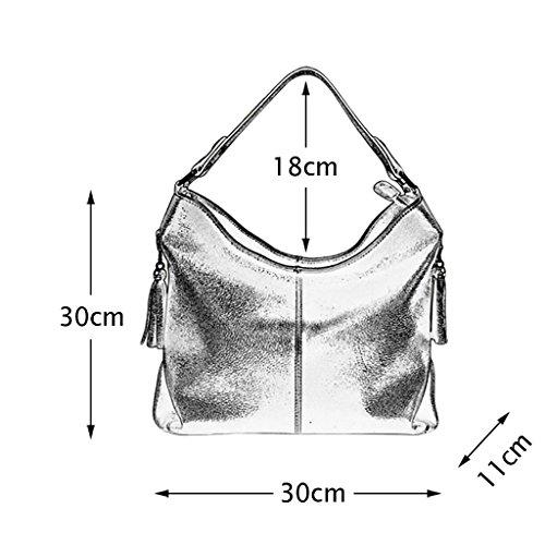 Mena UK Borsa a tracolla in borsa da spalla per acquirenti del progettista del cuoio del tallone di stile tallone delle donne ( Colore : Blu , dimensioni : 30cm*11cm*30cm ) Nero