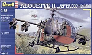 Revell - Maquette - Alouette II Attack Nord SS-11 & Missiles - Echelle 1:32