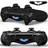 2x LED Sticker 2x Thumb Grips für PlayStation 4 Controller Light Bar Decal Skin Sticker – Bat Fledermaus Shadow Man