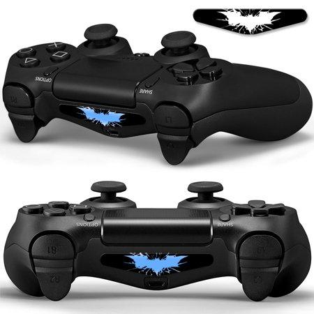 2x LED Sticker 2x Thumb Grips für PlayStation 4 Controller Light Bar Decal Skin Sticker - Bat Fledermaus Shadow Man