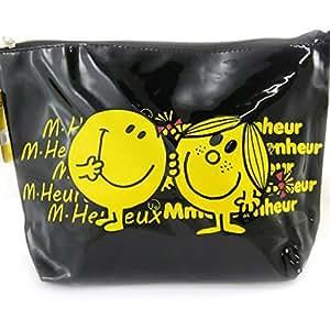 Monsieur Madame [L9052] - Trousse de toilette 'Monsieur Madame' noir jaune (Heureux, Bonheur)