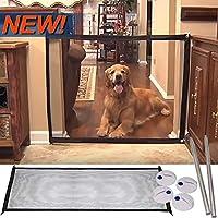 Atimier Guardia Plegable Plegable Magic Gate Portátil Instale en Cualquier Lugar, Animal Favorite Pet Retractable Safety Gate