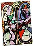 Pablo Picasso Girl Bevor eine Spiegel Leinwand Kunstdruck Bild Wand Art Großer 76,2x 50,8cm
