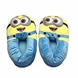 Despicable Me 2 Plush Stuffed Men's Women's Unisex Slippers Smile Soft Toy Minion 11' 3D Eyes Adult Shoes Free size fit 34-42 (Minion Bob)