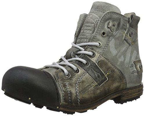 Yellow Cab Herren Industrial M Biker Boots Grau (Moss) 41 EU