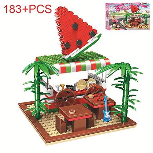 HLDX 183 + STÜCKE Obst Stehen Mädchen Serie Modell Bausteine   Kinder Puzzle Baustein Spielzeug