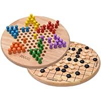 Jaques of London Chinese Checkers with Free Go Bang - Go Game on Reverse - Premium Quality - A Great Checkers Game