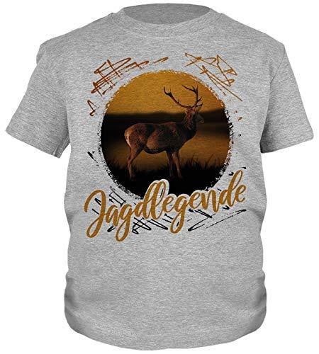 Kinder-Shirt Jäger Motiv/Spruch, Jagdmotiv Hirsch Kind : Jagdlegende - Jagdsport Kinder T-Shirt Bekleidung Gr: L = 146-152