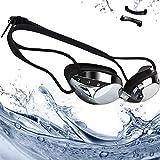 Occhialini da Nuoto,Rabofly Protezione UV Occhiali da Nuoto Agonistico anti appannamento,anti-perdita con ponte nasale morbido e flessibile Occhiali da Nuoto per Unisex – Adulto e bambini