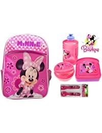 Minnie Mouse School Backpack With Lunch Set Water Jug Edition