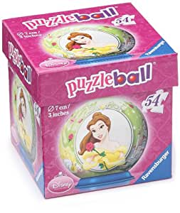 Ravensburger - 11099052 - Disney Princess - Puzzleball - Belle - 54 Pièces