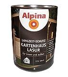 Alpina 2,5 L Holzlasur, Gartenhaus Lasur, Mittelschichtlasur, Palisander
