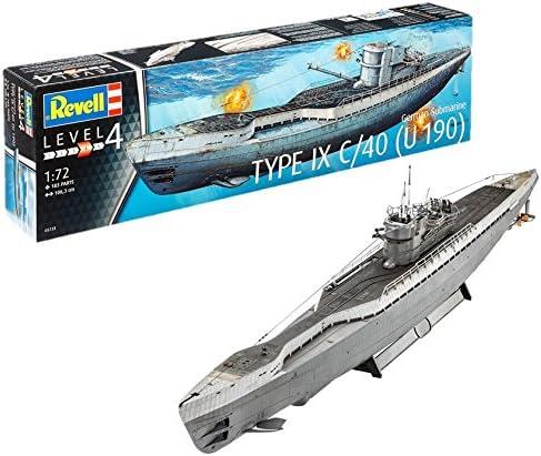 Revell - 05133 - U-Boat Allemand-sous Marin - Type IX C/40 - 183 Pièces -echelle 1/72 | Dernière Arrivée
