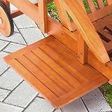Eukalyptusholz Gartenliege verstellbar mit Rollen und Tisch - 5