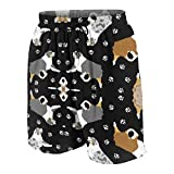Photo de HPHPLSZ Australian Shepherds and Paw Boys Teens Swim Trunks Quick Dry Waterproof Surfing Board Shorts Drawstring Elastic par HPHPLSZ
