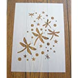 Dragonfly Stencil Reusable PP Sheet for Arts & Crafts