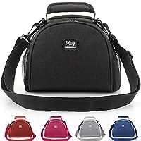 حقيبة غداء، حقيبة غداء معزولة، حقيبة رائعة للغداء، حقيبة غداء مضادة للماء للبالغين والرجال والنساء في الهواء الطلق والنزهات والعمل 5 ألوان (أسود)