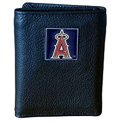 MLB Los Angeles Angels of Anaheim Genuine Leather Tri-fold Wallet