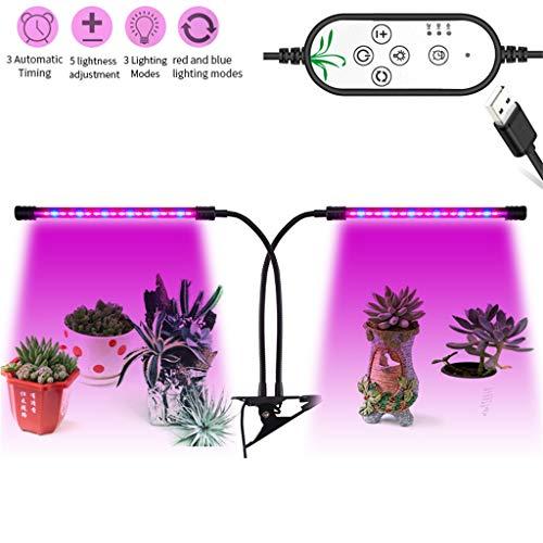 GJNDPXX LED-Pflanzenlicht 18W Wachsen Sie Licht Vollspektrum-Pflanzenlampe Automatisches Timing 360° verstellbares Schwanenhals wachsendes Licht für Zimmerpflanzen Gewächshaus