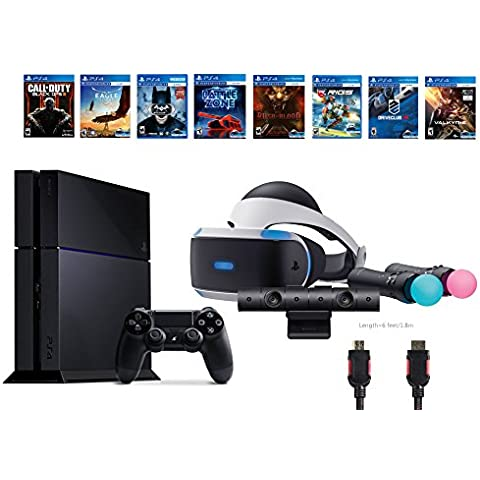 PlayStation VR Start Bundle 10 Items:VR Start Bundle PS,PS4 Call of Duty Black Ops III,6 VR Game Disc Until Dawn,Rush of Blood,EVE: Valkyrie, Battlezone,Batman:Arkham VR, (Versión EE.UU.,