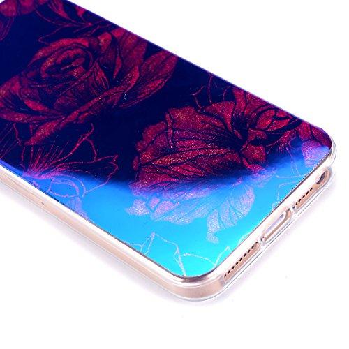 iPhone 5S Hülle,iPhone SE Hülle,iPhone 5 Hülle,iPhone SE 5S 5 Schutzhülle Case,ikasus® TPU Silikon Schutzhülle Case Hülle für iPhone SE 5S 5,Rosen Blumen Muster Kristall Bling Glänzend Glitzer Überzug Kamelie