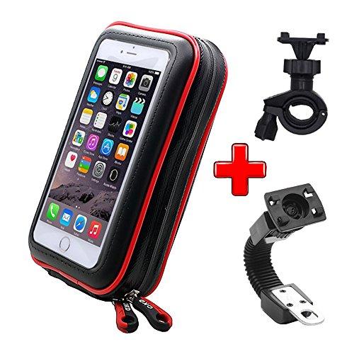 ICOOM Soporte Impermeable Universal con doble fijación de bicicleta y moto brazo...