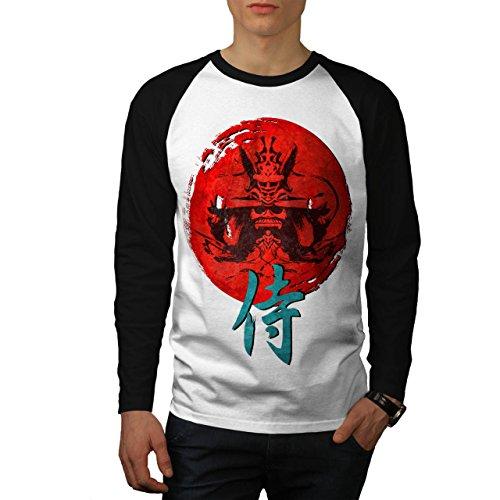 japonais-rouge-symbole-asiatique-homme-nouveau-blanc-avec-manches-noires-xl-base-ball-manche-longue-