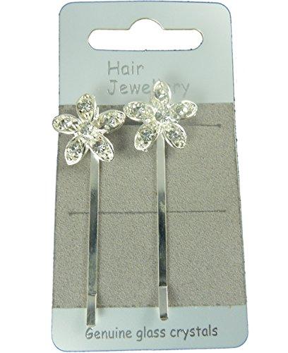 Paire de barrettes Fleur - Argenté - Taille unique