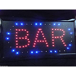 Super Bright Quality Bar Pub Wine Bar LED neon shop display hanging sign 48cm x 25cm posted from London by Fat-catz-copy-catz