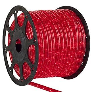 Rolle-45-m-Vorfach-Schnur-LED-rot-fr-Auenbereich-IP44-empalmable-zuschneidbar