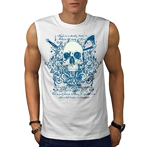 wellcoda AXT Tod Cool Gote Schädel Männer 4XL Ärmelloses T-Shirt