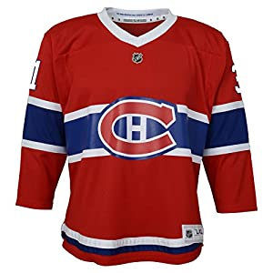OuterStuff NHL by NHL Montreal Canadiens Kids & Youth Boys Carey Price Replica Jersey-Home, Red, Youth Large/X-Large(14-18)