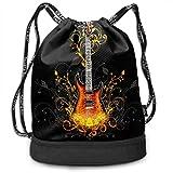 Rtytgfdw Multi-Functional Unisex Free Guitar Drawstring Double Shoulder Bundle Bag