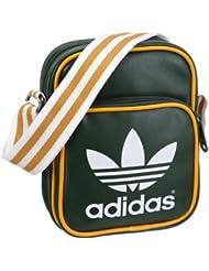 adidas ac mini bolsa darkverde/blanco