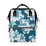 Best KAKA Backpacks For Kids - FAJRO Noble White And Blue FlowersTravel backpack canvas Review