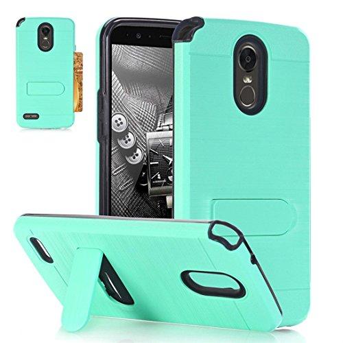 aobiny Handy Fall Hard Weiches Gummi Case Back Hybrid Cover für LG Stylo 3Plus, Mintgrün Gummi Hard Case Cover