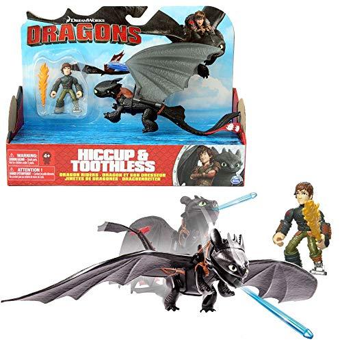 Dragon Sdentato e Hiccup Trainer | Set di Giochi d'azione | DreamWorks Dragons