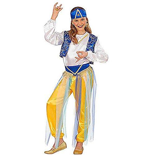 derkostüm Prinzessin Araba, Jasmine 8/10 Jahre, weiß hellblau, grün, 8-10 Jahre, 140 Centimetimeter, WDM55407 ()