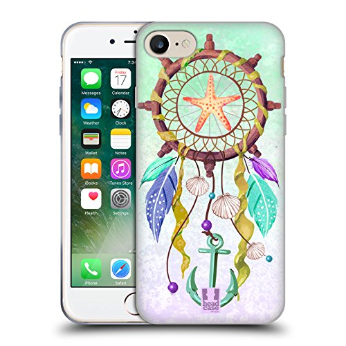 Head Case Designs Nautico Acchiappasogni Assortiti Cover Morbida In Gel Per Apple iPhone 7 Plus / 8 Plus Nautico