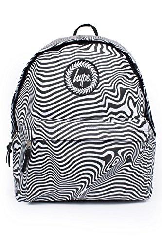 Hype Hombre Zebra Warp Logo Mochila, Negro, One Size