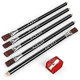 ARTEZA Ensemble pinceau crayon-effaceur blanc précision avec aiguiseur, Ensemble de 6, Gomme lisse sans latex et sans PVC, Aiguiseur format poche, Idéal pour une grande variété de médias