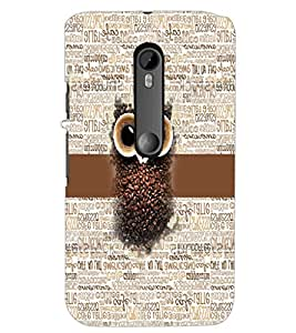 PrintDhaba Coffee Beans Owl D-4044 Back Case Cover for MOTOROLA MOTO G3 (Multi-Coloured)